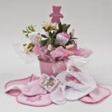 Bouquet of Baby Girl Clothing - Pink Pail image