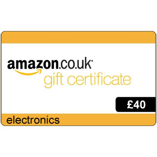 £40 Amazon.co.uk Electronics Gift Voucher