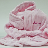 Personalised Baby Girl Bathrobe image