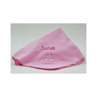 Personalised Fleece Baby Girl Blanket image