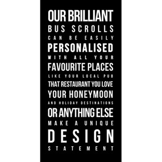 Bus Scroll 100x50cm