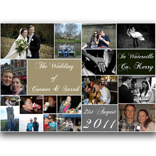 Wedding Collage 100x70