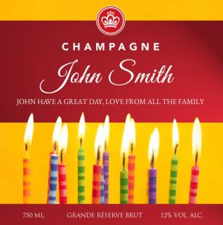 Personalised Champagne Candles image
