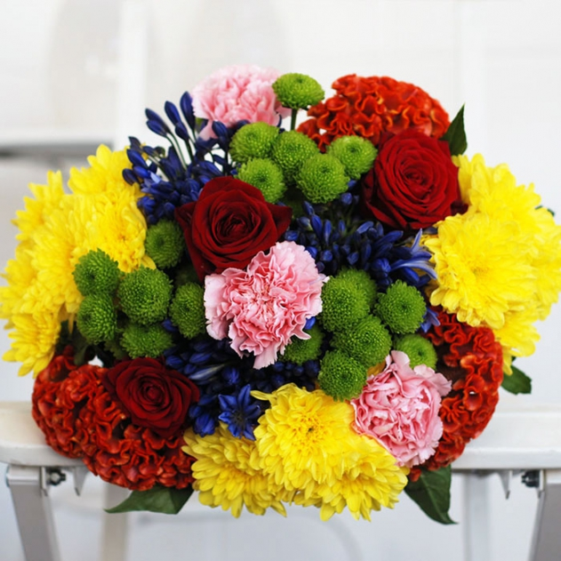 Colour Palette Flower Bouquet image