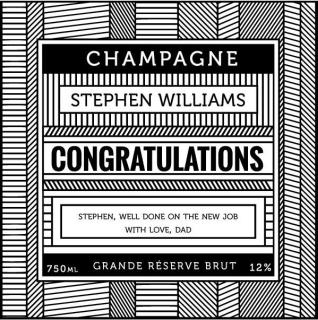 Personalised Champagne Lines image