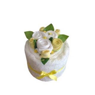 Blooming Towel Cake - Lemon image