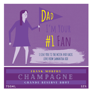 Fathers Day Champagne - No 1 Fan image