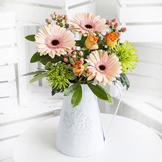 Peachy Flower Bouquet image